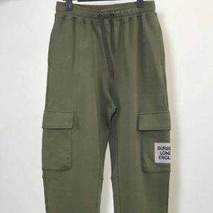 Burberry Patch Green Cargo Sweatpants